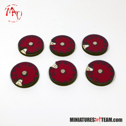 x6 Wound Counters 1-12