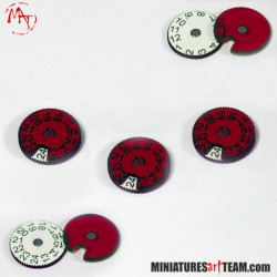 x3 Wound Counters 1-24