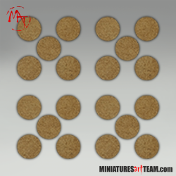 25 MM ROUND BASES