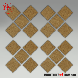 20x40mm Rectangle Bases (10)